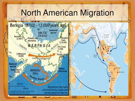 american migration from asia map ppt unit one pre columbian america powerpoint