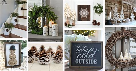 rustic winter decor ideas  designs