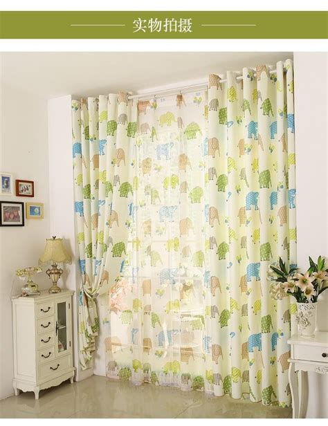 kids net curtains new cartoon kids linen window curtains for living room