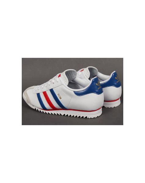 Adidas Prewalker White Blue adidas rom trainers white blue originals adidas rom trainers