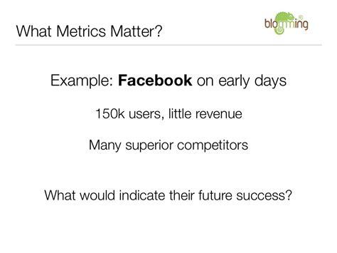 metrics matter what metrics matter exle