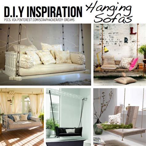 hanging sofa swing put your stuff up in the air hanging diy ideas tutorials