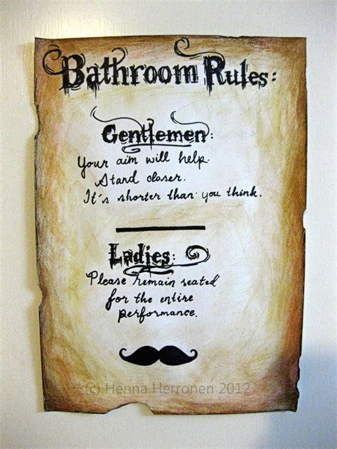 men bathroom rules bathroom rules aimee s blog