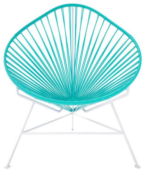 turquoise outdoor chairs acapulco chair turquoise contemporary outdoor lounge
