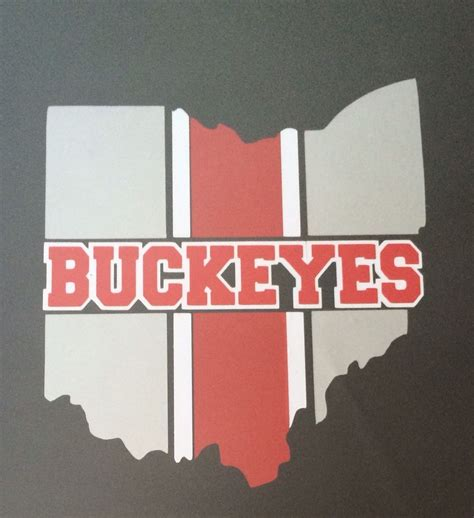 ohio colors ohio state buckeye decal 3 colors silver white 12