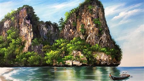 Rock Island Search Beautiful Rock Island Acrylic Painting