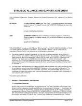 strategic partnership template strategic partnership agreement template free printable