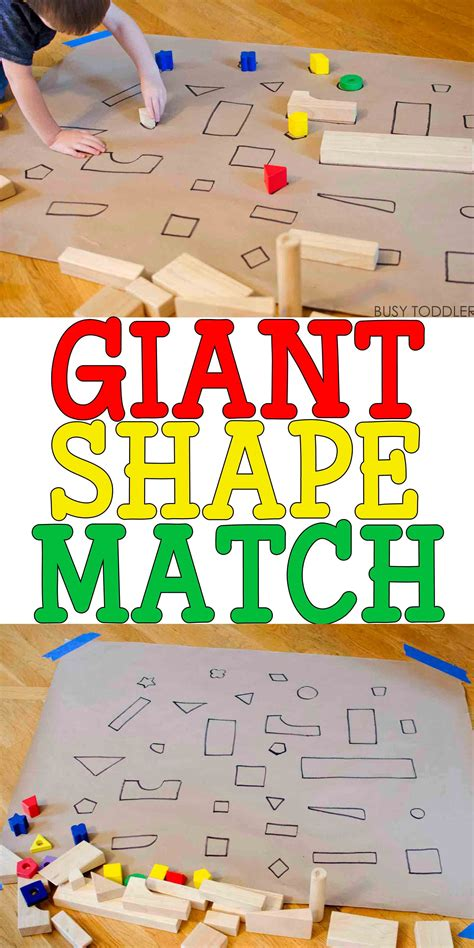 shape match activity preschool activities 1