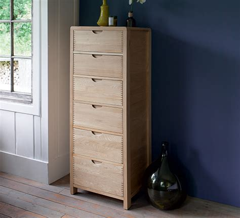 bedroom tall chest of drawers bosco bedroom six drawer tall chest chests of drawers ercol furniture