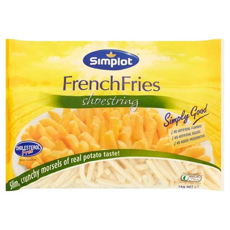 Fries Shoestring 1kg simplot shoestring fries 1kg sumhupdistributors