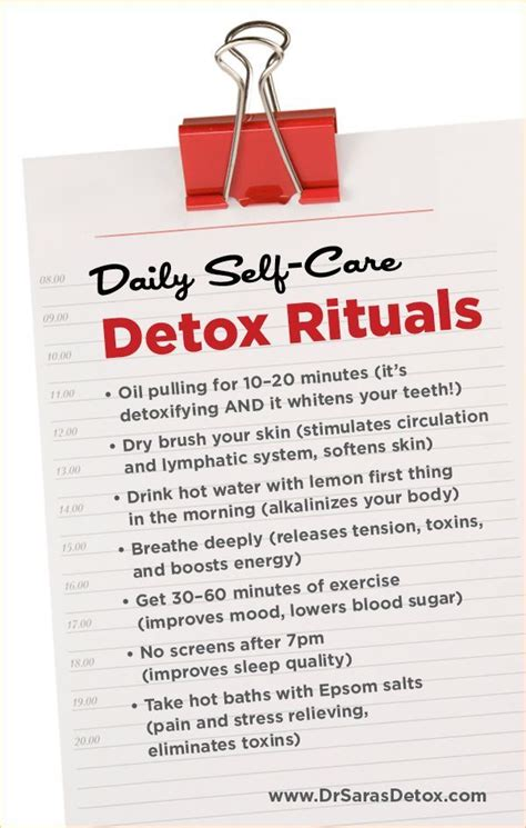 Self Detox Diet by Daily Self Care Detox Rituals From Dr Gottfried