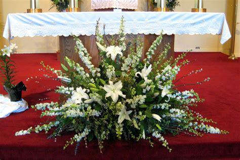 arrangement church altar white 2   ANDERSON FLORIST