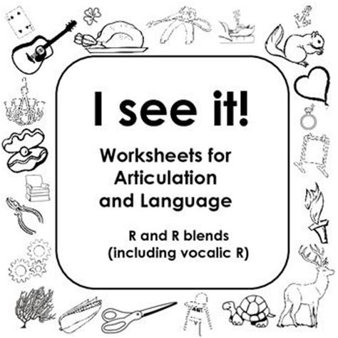Vocalic R Coloring Page by Speech Therapy Worksheets For Toddlers 1000 Ideas About