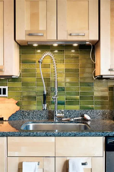 green backsplash kitchen rustic backsplash ideas homesfeed