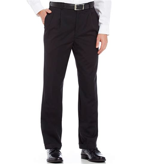 comfort waist dress pants roundtree yorke year round wool pleated ultimate comfort