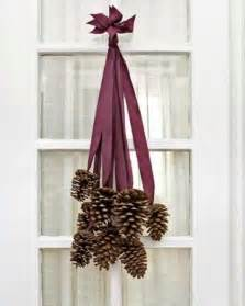 pine cone home decor pine cone door decor sweet paul magazine