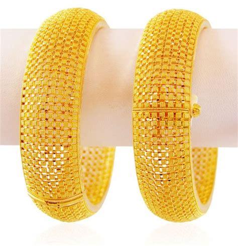 pattern of gold kada 22k gold kadas 2 pc ajba59435 22k gold kada 2 pc