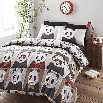 panda bedding bedding hugh panda bear duvet cover multi reversible