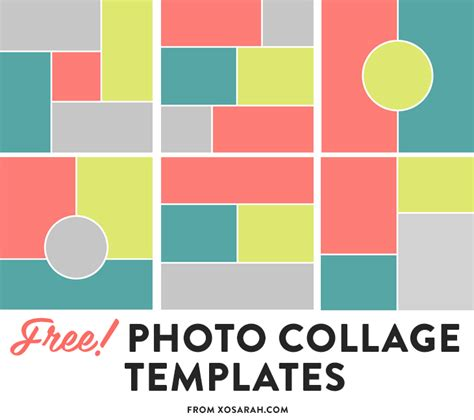free card photo collage templates free photoshop collage template best template exles
