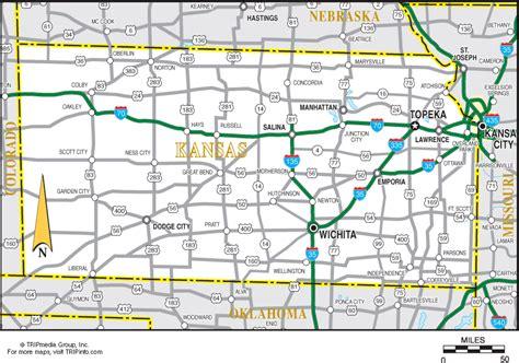 printable kansas road map kansas map