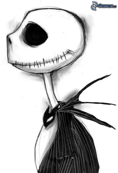 imagenes jack esqueleto para hi5 jack skellington arte en blanco y negro pinterest
