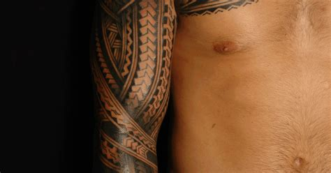 shane tattoos polynesian sleeve chest tatau tattoo