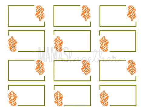 Table Setting Name Cards Template by Thanksgiving Table Name Cards Templates Happy Easter