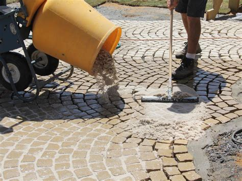 How To Install A Patio Walkway How Tos Diy Grout For Patio Stones