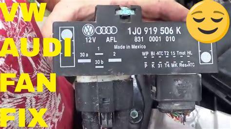 vwaudi fan relay cooling fan control unit module relay