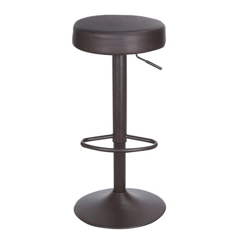 Leather Adjustable Bar Stools by Joveco 360 Degree Swivel Adjustable Backless Upholstered