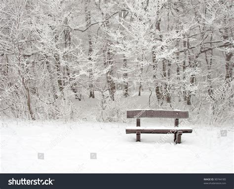 bench winter bench in winter stock photo 90744185 shutterstock