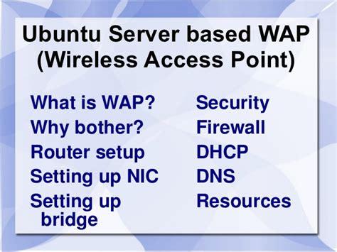 configure ubuntu server wireless ubuntu server wireless access point eng