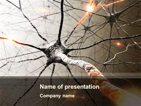 Neurons Networks Presentation Template For Powerpoint And Keynote Ppt Star Free Neurology Powerpoint Templates