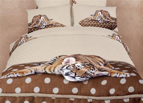 animal bedding sets sleepy tiger queen bedding animal print design duvet