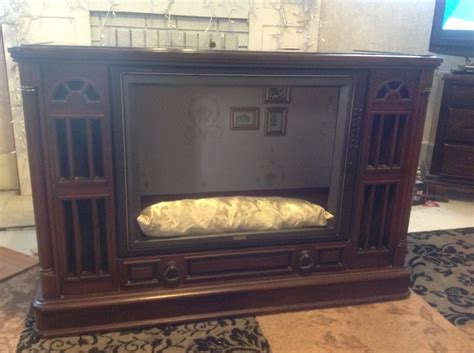 tv dog bed tv console dog bed totally free used old laminate