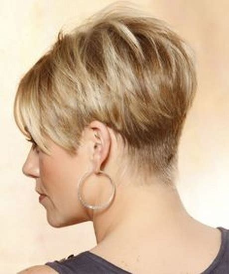 medium style hair with back a little shorter than sides layered wedge haircut