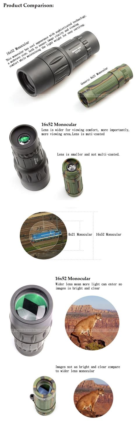 Teropong Outdoor Genggam Monocular high definition monocular 16x image magnification teropong sport outdoor bushnell 16x52 new