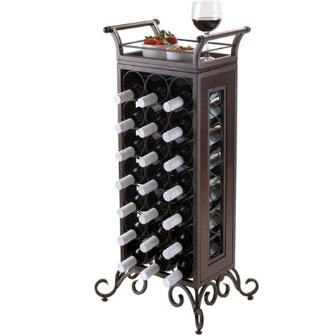 Walmart Wine Rack by Silvano 21 Bottle Wine Rack With Removable Tray Bronze