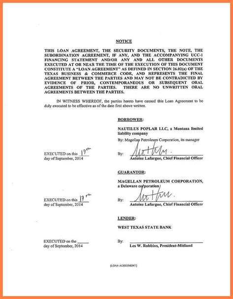 7 intercompany loan agreement sle company letterhead