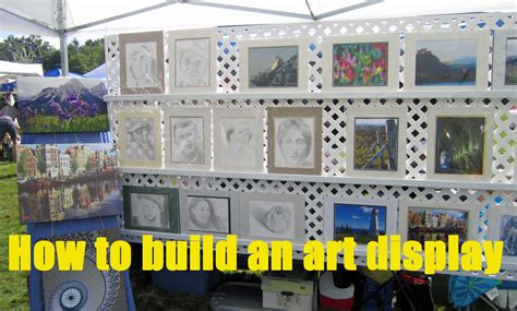 how to display art prints how to build a display for art and craft shows youtube