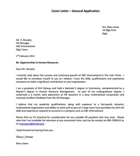 cover letter sle human resources job 100 cover
