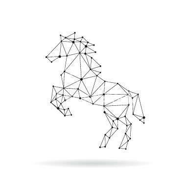 Washi Paper Motif Unicorn geometric design silhouette vector by roman84