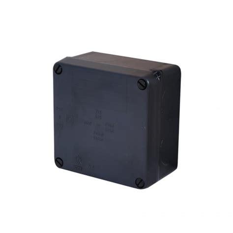 Junction Box 80x80x45 Black black ip65 junction box plastic