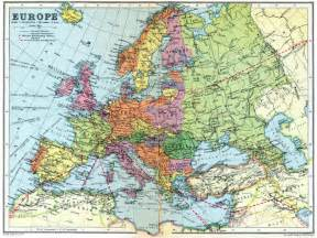 Detailed Map Of Europe by Detailed Map Of Europe In 1936 Maps On The Web