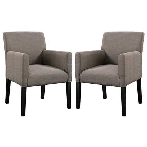 gray accent chairs set of 2 modway accent chair in gray set of 2 eei 1299 gry