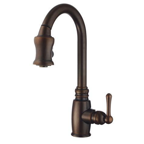 bronze faucets for kitchen shop danze opulence tumbled bronze 1 handle pull kitchen faucet at lowes