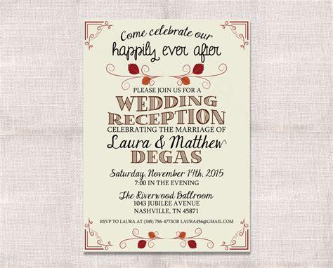 wedding reception invitation after marriage wedding reception celebration after invitation custom