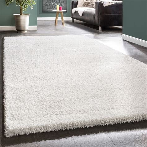 hochflor teppich beige shaggy rug soft high pile carpet