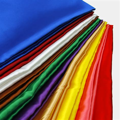 solid color imitated silk cloth satin fabric meter