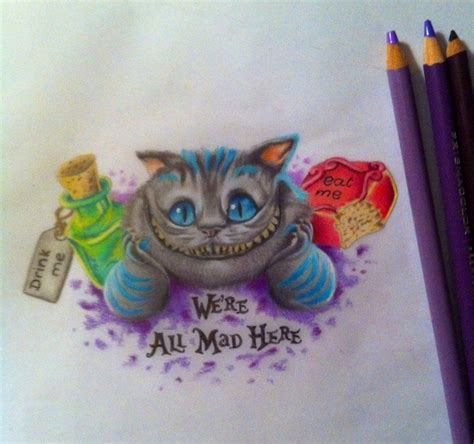 chesire cat tattoo we re all mad here by creativecursekina deviantart on